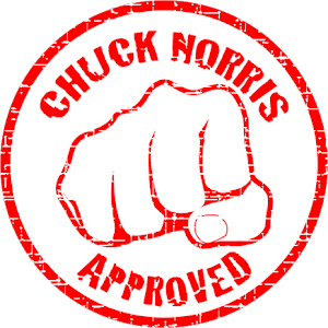 Chuck's seal of approbal.
