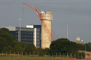 The ATC Tower with the new Travelodge Hotel behind it (atc bhx )