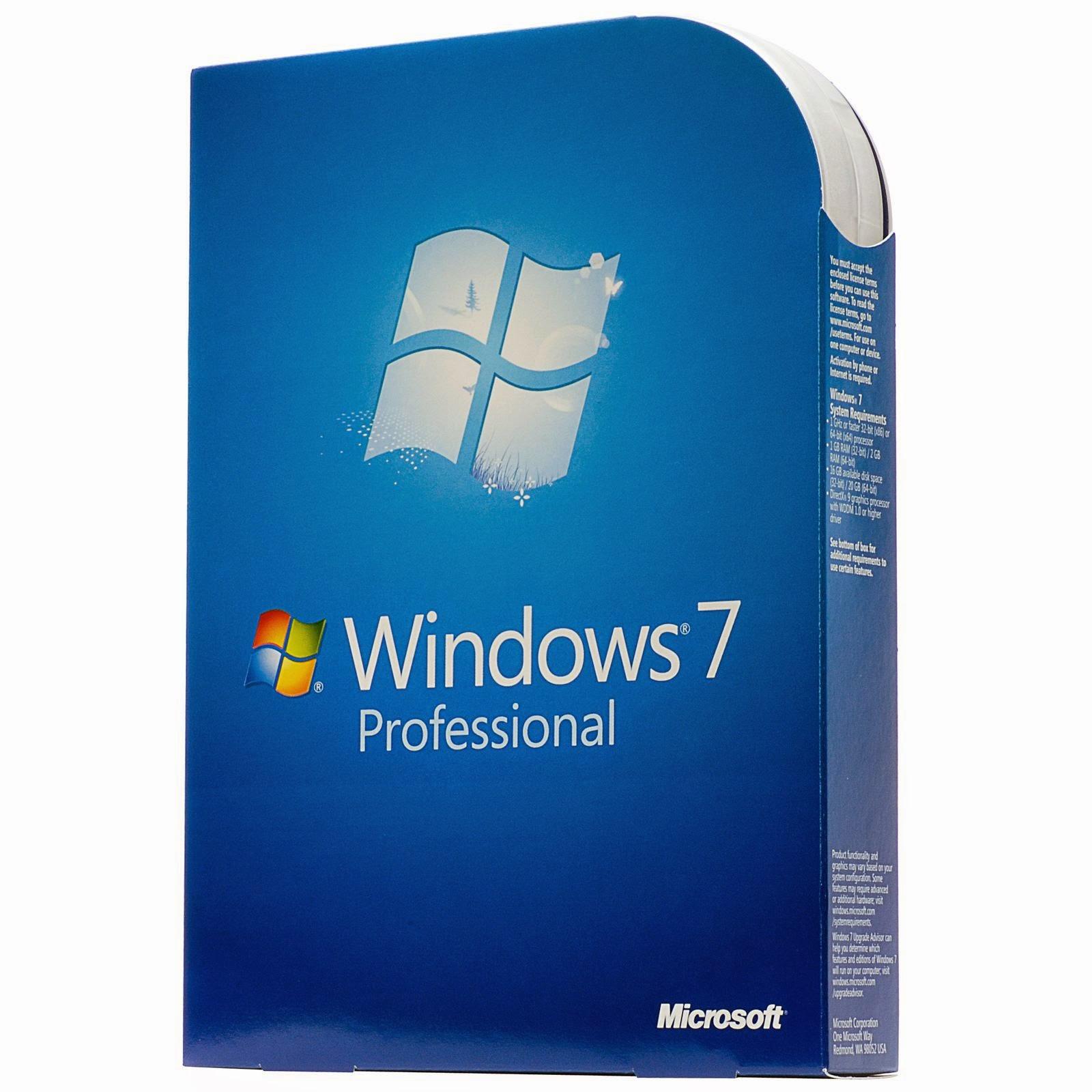 تحميل Windows 7 Professional 32 Bit 64 Bit برابط مباشر