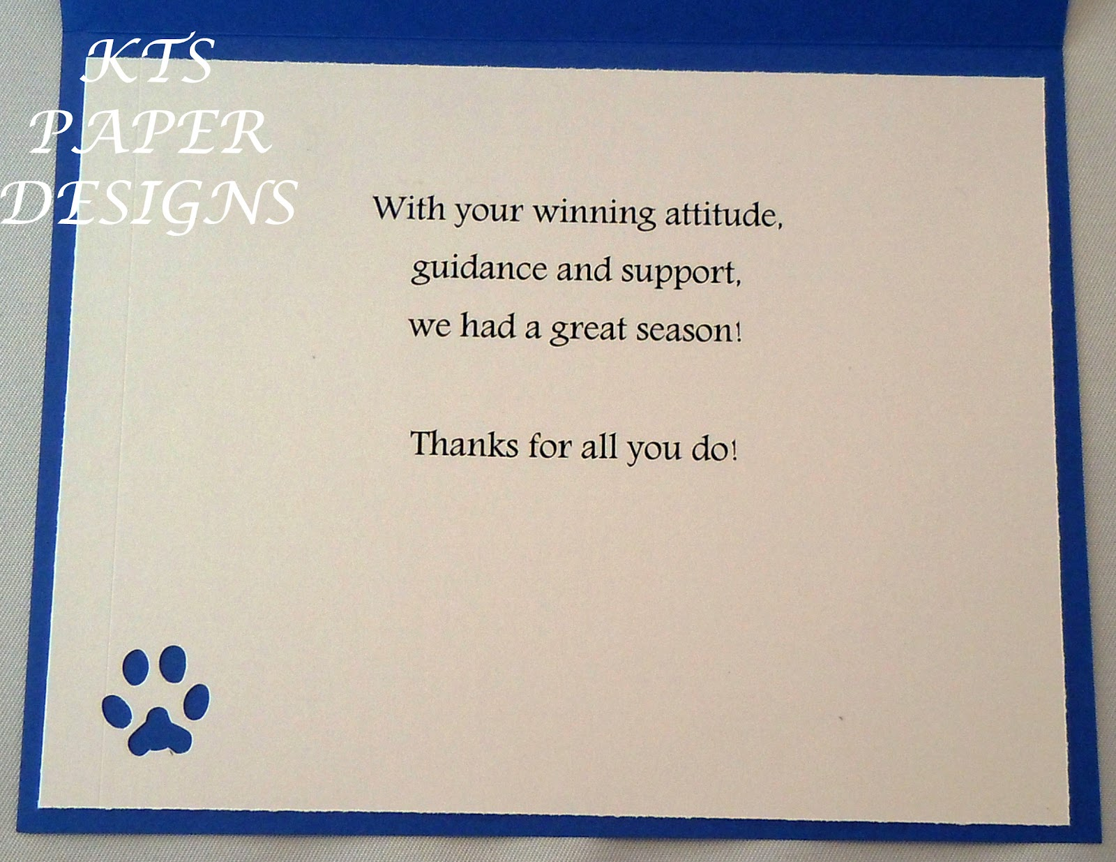 Thank you card for a coach acurnamedia thank you card for a coach expocarfo Image collections