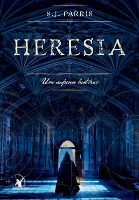 """Capa do livro """"Heresia"""", de S.J. Parris"""