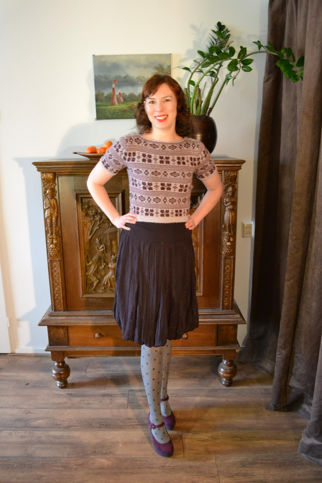 Dasha sweater made by Anthea