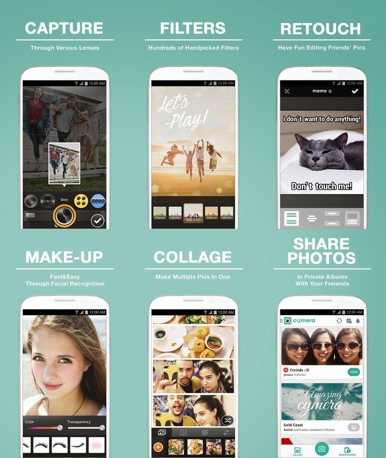 Fitur Aplikasi Cymera Android