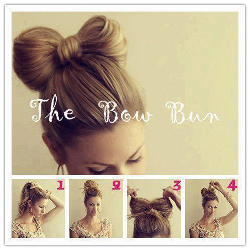 Bow Bun Step by Step