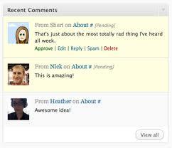 recent comments blogger