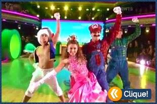 Dança dos Famosos  com tema de Super Mario Bros