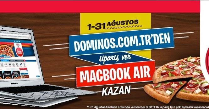 Dominos Macbook Air çekiliş Kampanyası Paket Bul