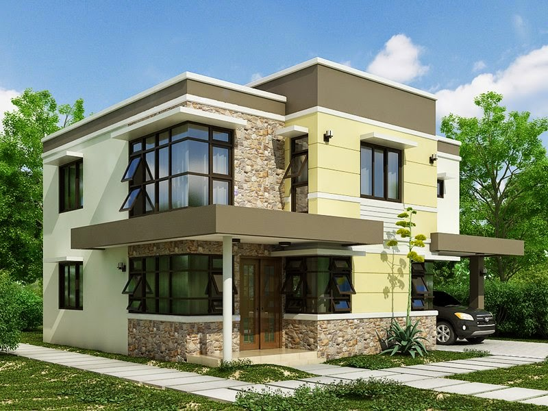 33 beautiful 2 storey house photos for Best simple house designs