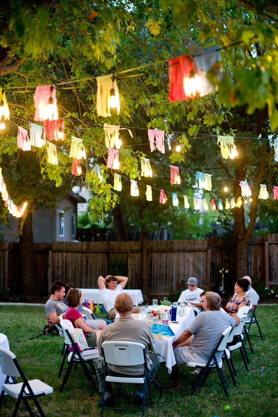 backyard party ambiance