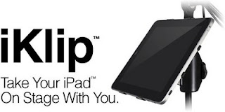 iKlip announced by IK - a mic stand adapter for iPad
