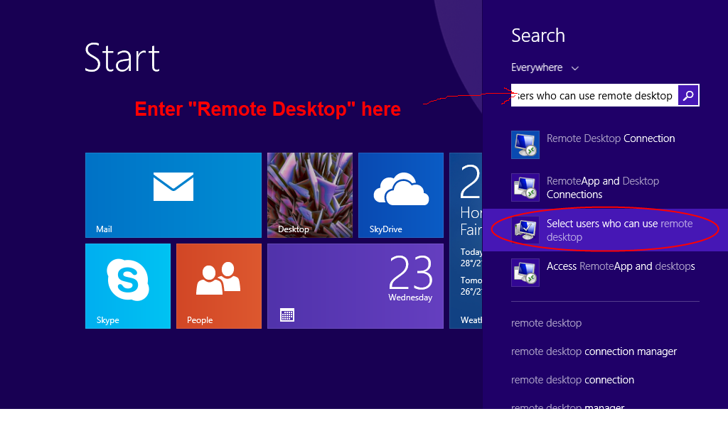 how to allow remote desktop connection windows 10
