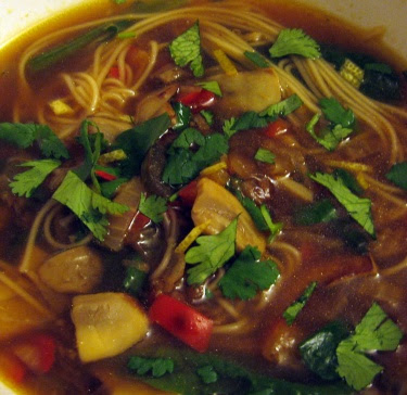 spicy somen noodle soup