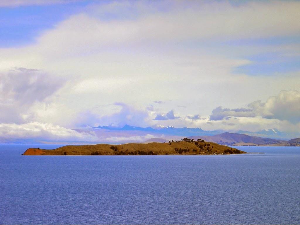 Isla de la Luna en el lago Titicaca