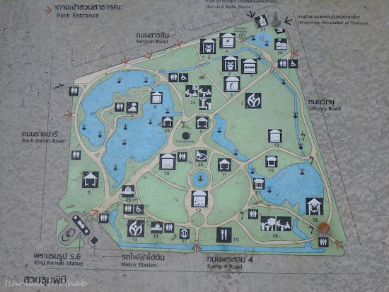 Map of Lumphini Park