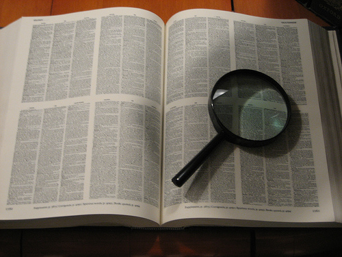 OED with magnifying glass