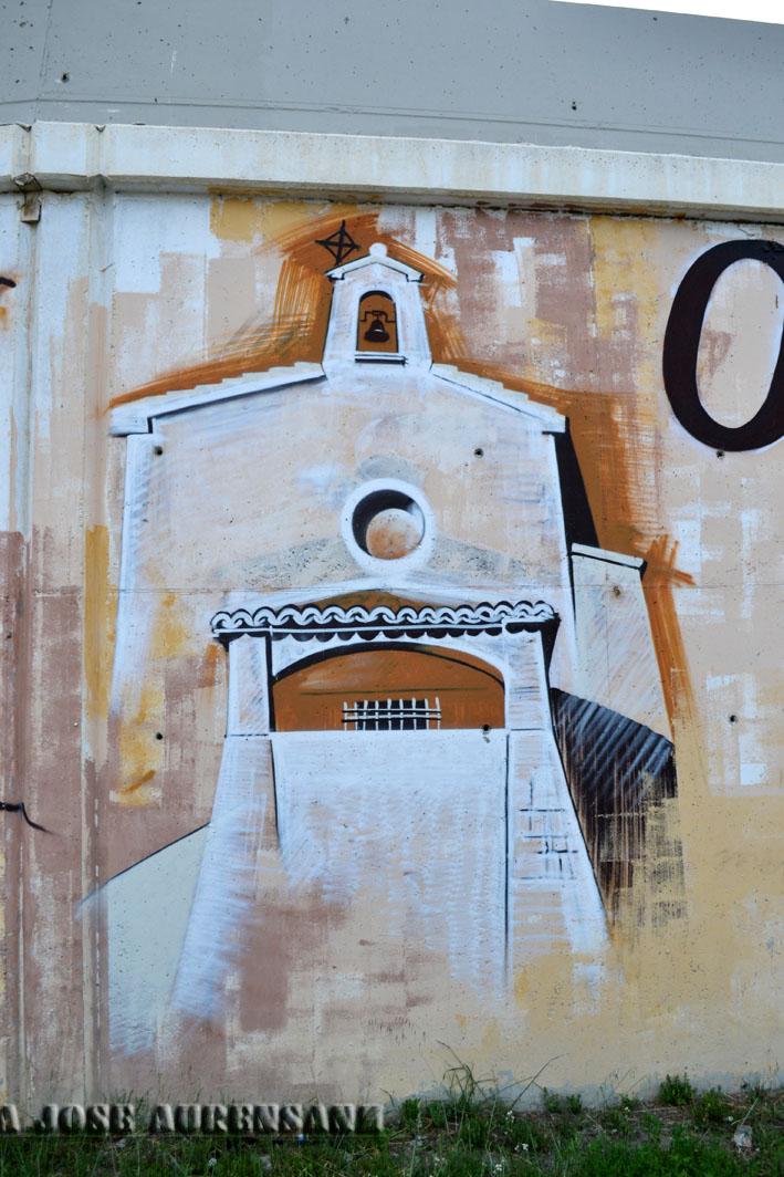 Ermita de la Virgen del Salz, Sección mural Fotografída por Mj Aurensanz