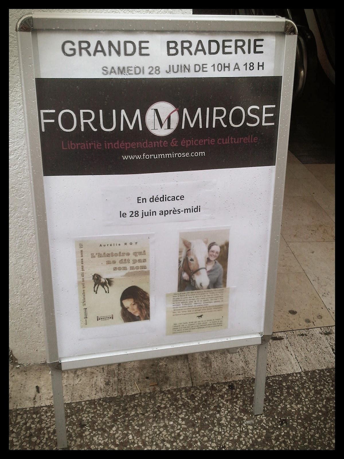 Aurélie Roy - Dédicaces Forum Mirose