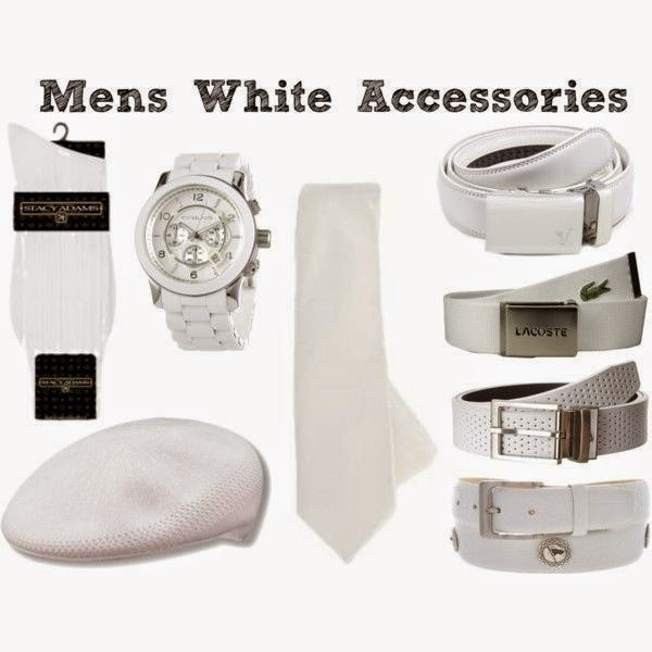 Dîner en Blanc: Mens White Accessories | all dressed up with nothing to drink...
