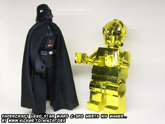 C3PO Minifig Papercraft