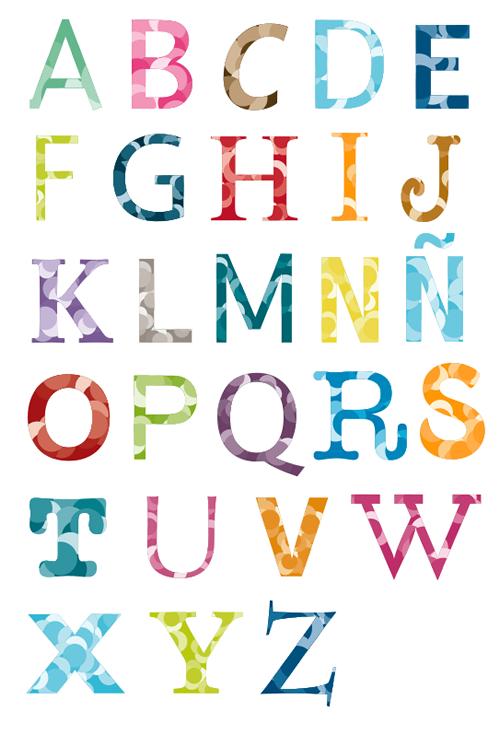 Letras decoradas para imprimir y recortar - Imagui