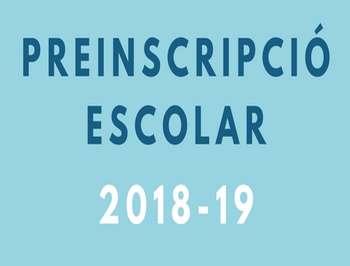 PREINSCRIPCIÓ 2018-2019