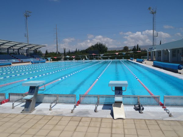 olympic size pool with 10 lanes in cyprus