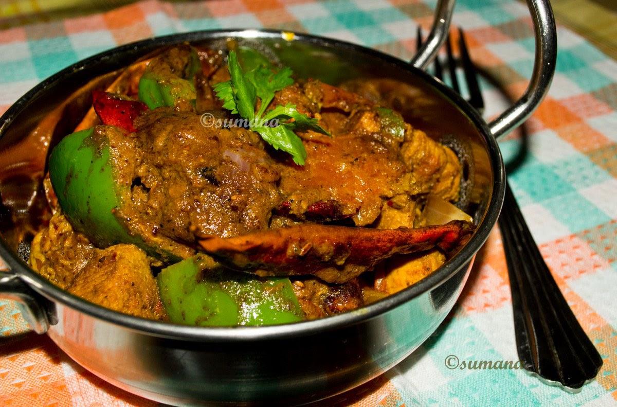 recipe: kadai chicken with capsicum recipe [2]