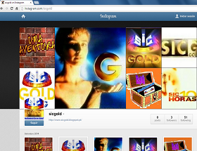 Site SIC Gold no Instagram - Aceda aqui