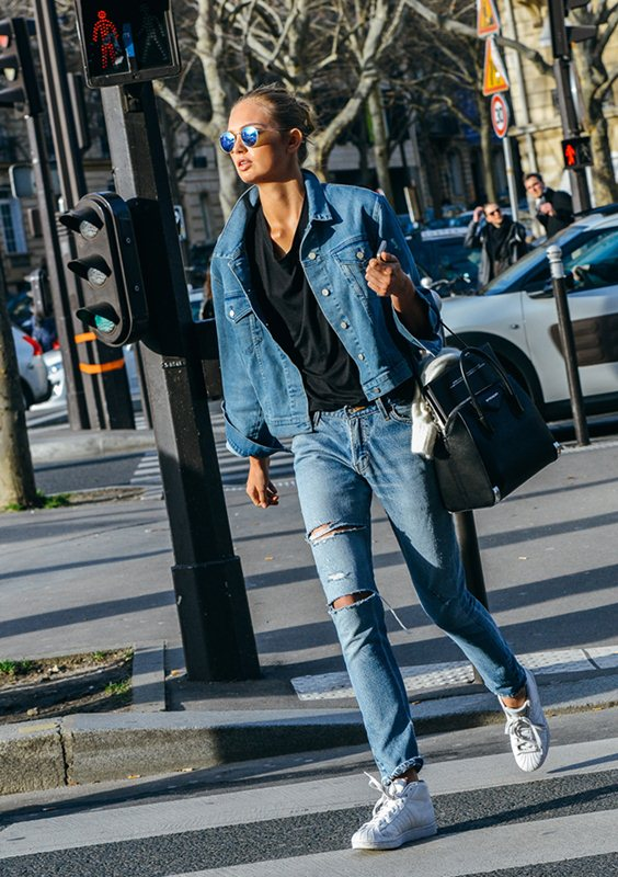 Romee Strijd Denim Paris Fashion Week