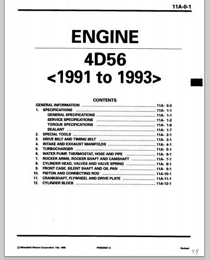technology news otohui  mitsubishi engine 4d56 1991