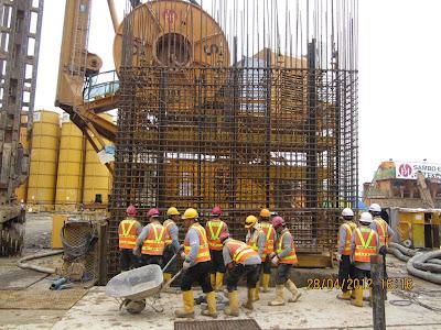 Tiang Pondasi Barrette Pile, Barrete Pile Construction