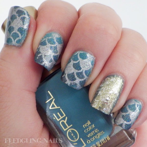 Fledgling nails nail art moyou london challenge day 4 fantasy if you do nail stamping its most likely that you know of moyou london and their absolutely amazing array of stamping plates seriously these things are prinsesfo Gallery