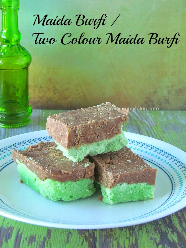Maida Burfi / Two Colour Maida Burfi