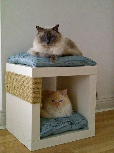 EXPEDIT Double decker Cat Snugscratch Post IKEA Hackers