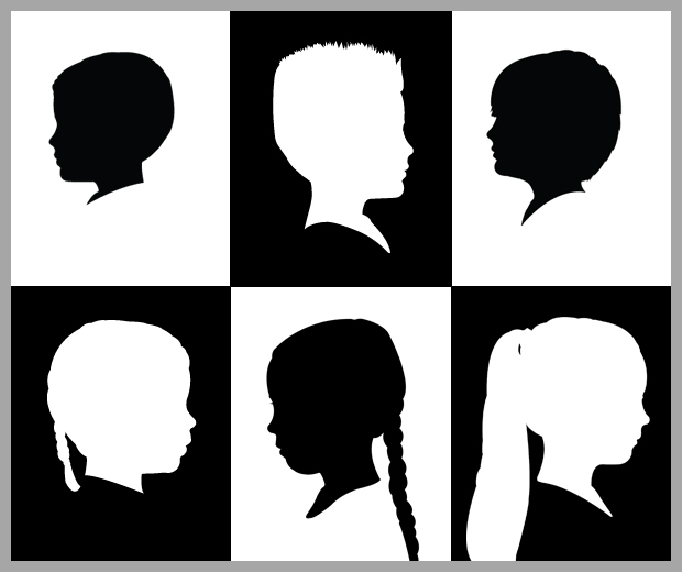 growing kids silhouette