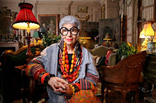 Iris Apfel, ageing, fashion, hill tribe textiles