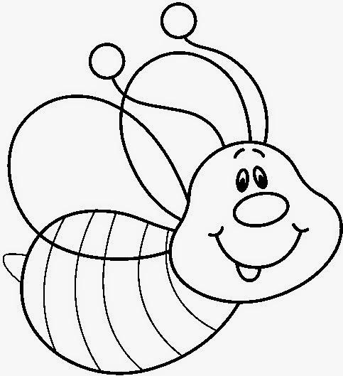 Desenhos de abelha para pintar, colorir ou imprimir – abelhinha para colorir
