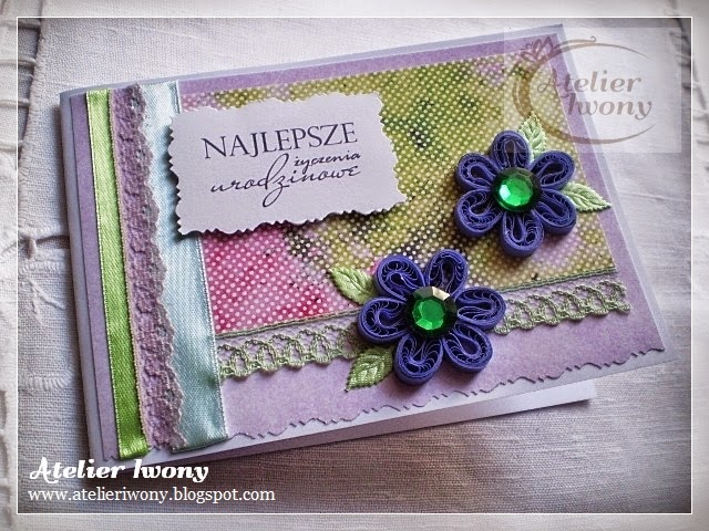 fiolet, fioletowy, violet, cyrkonia, zielony butelkowy, paper cutting, scrapbooking