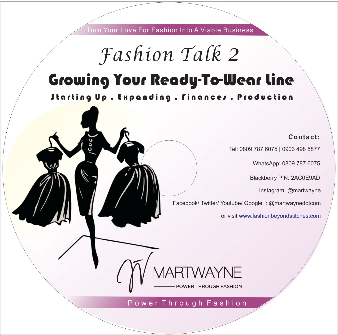 "Buy your Fashion Talk 2 DVD on ""Starting & Growing Your Ready-to-Wear Line"""