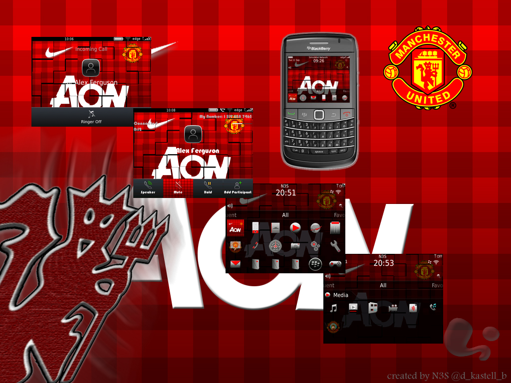 Tema Blackberry Barcelona, Real Madrid, MU