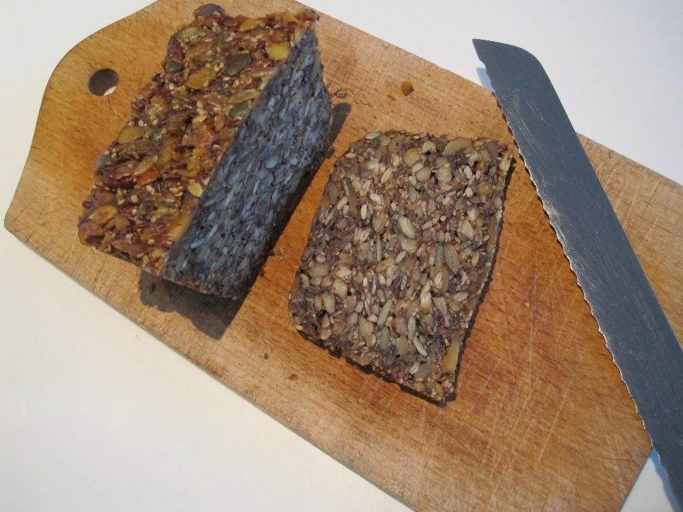 nøddebrød. nødder, brød, paleo, stenalder, lækkert,