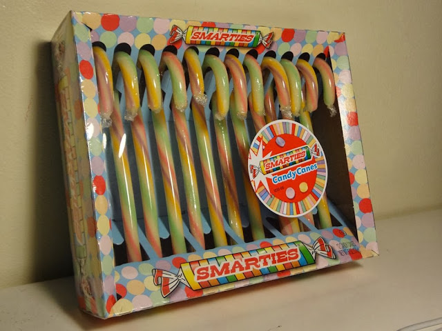 Smarties flavored candy canes from the Candy Aisle in Vancouver