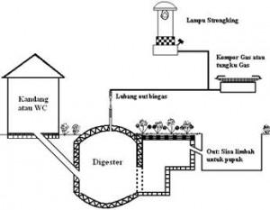 fermentasi dari bahan bahan organik termasuk diantaranya kotoran