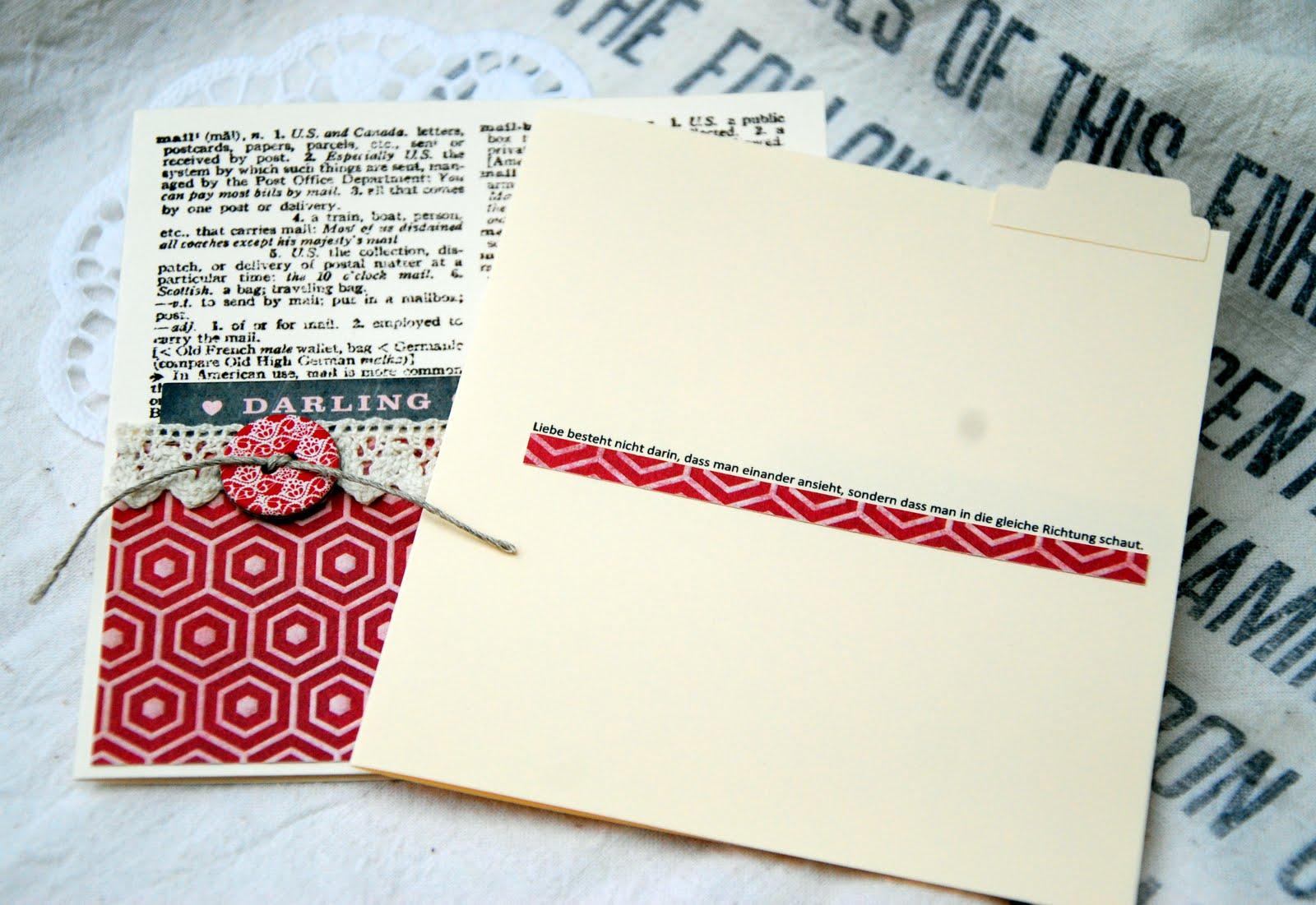 Schöne Dinge aus Papier: Valentinstags- und andere Karten