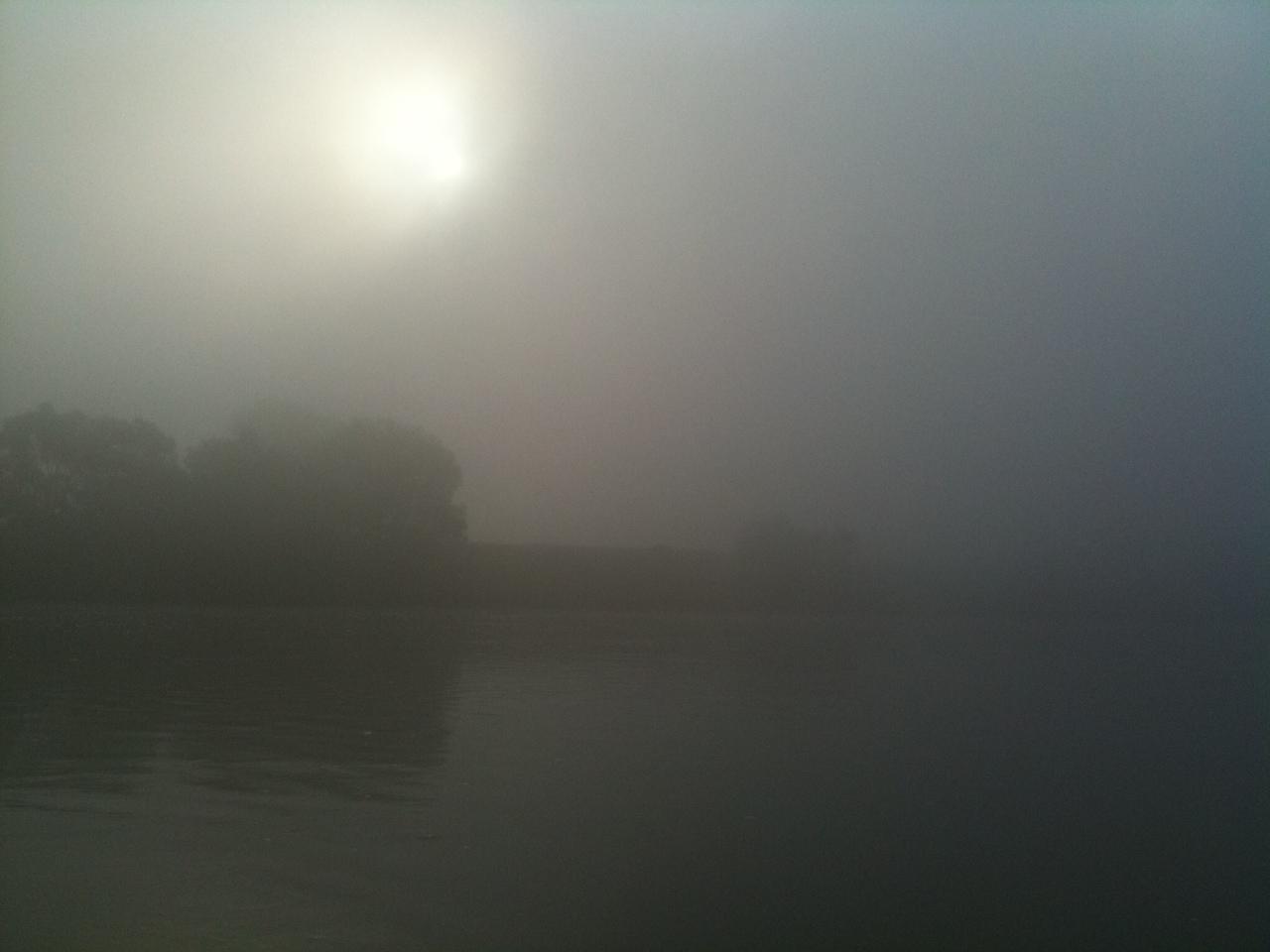 Risultati immagini per fiume po' nebbia