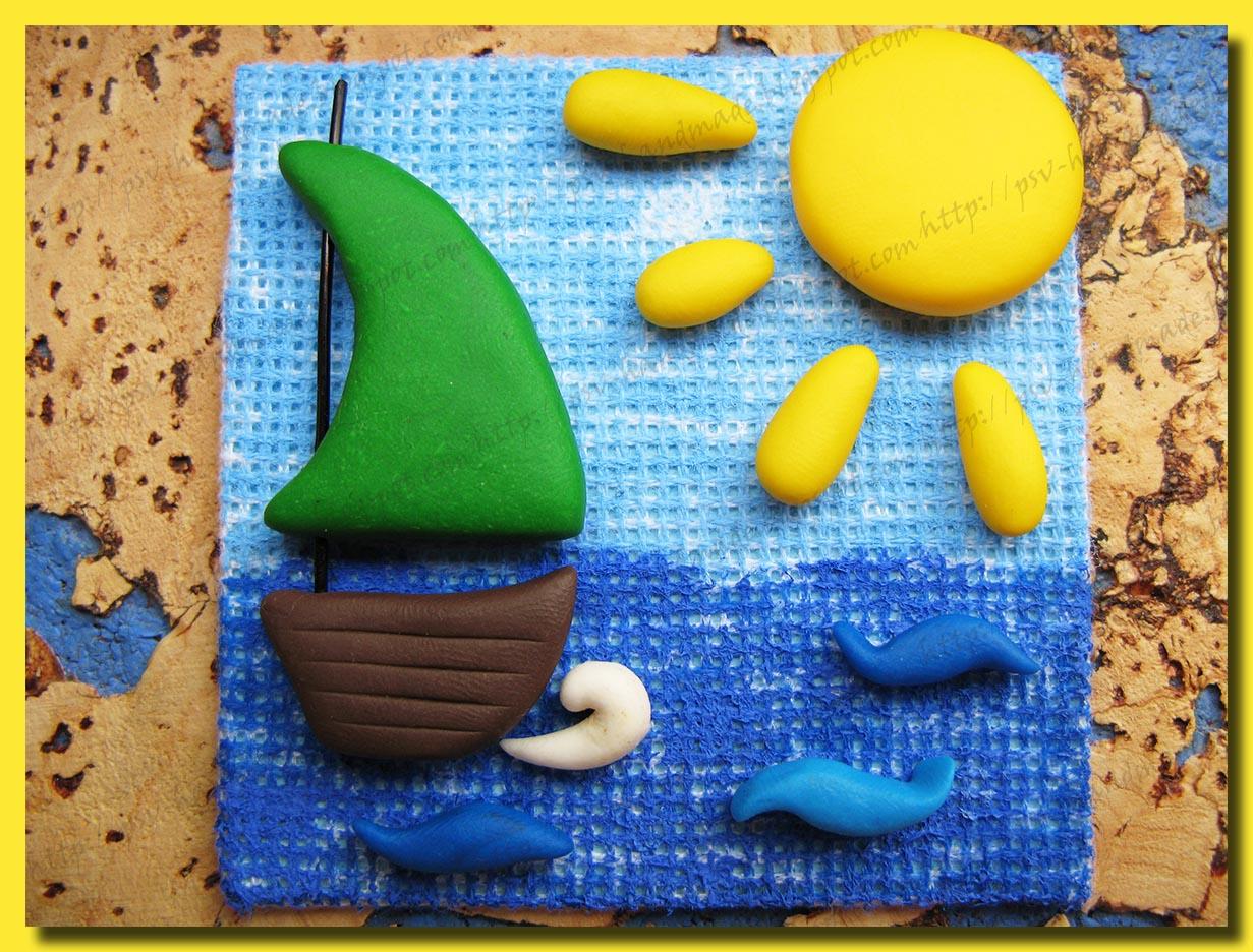 Кораблик из полимерной глины