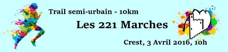 Trail des 221 Marches - Dimanche 3 avril 2016