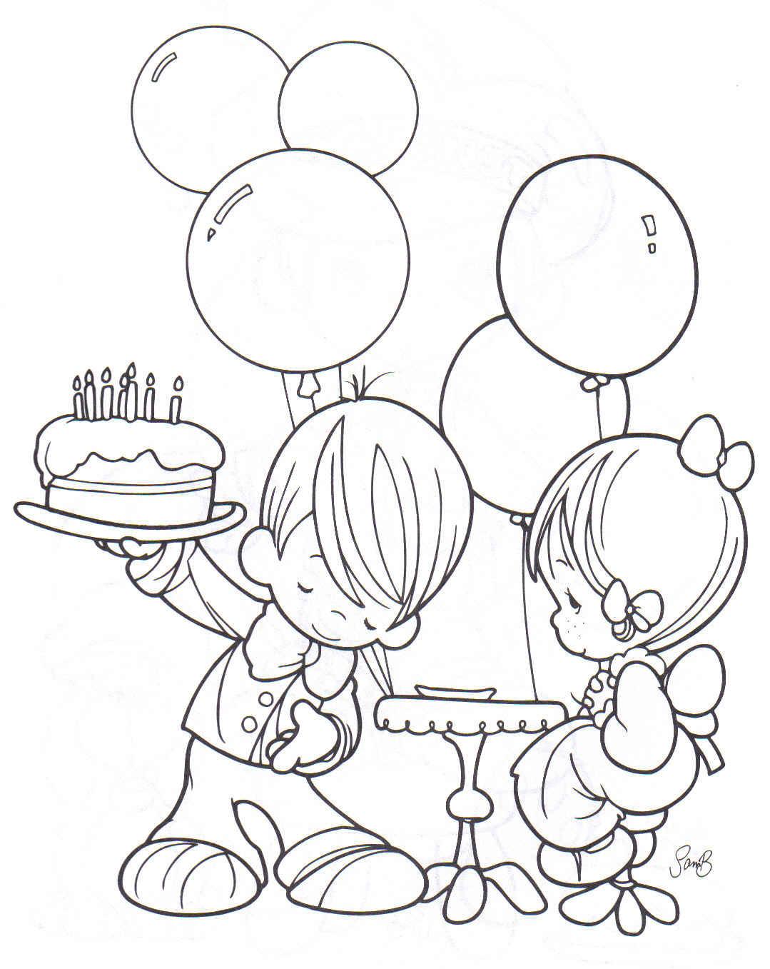Dibujos para colorear: Dibujos de cumpleaños para colorear