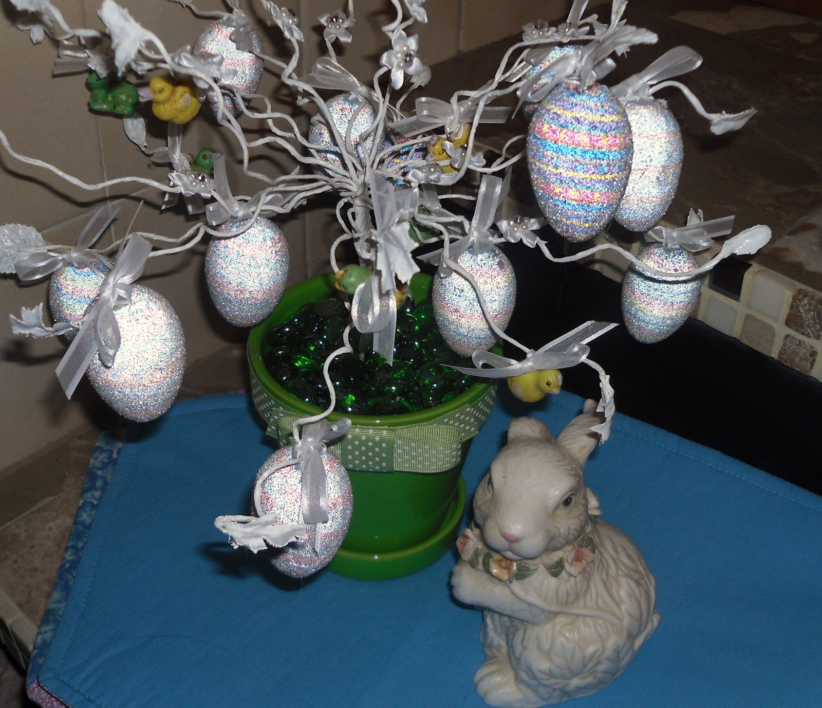 Hollyshome family life easter egg tree recycled from old - Easter egg tree decorations ...