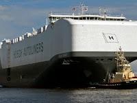 Ini Kapal Pengangkut Mobil Terbesar di Dunia